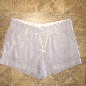 JCREW Drawstring Light Gray Shorts. Size: 4.